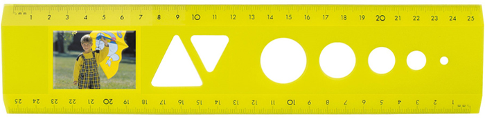 The passport photo ruler Yellow