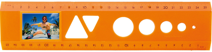 The passport photo ruler Orange