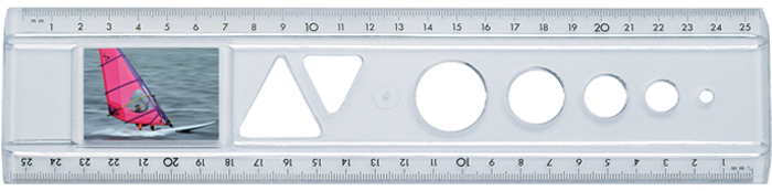 The passport photo ruler Transparent