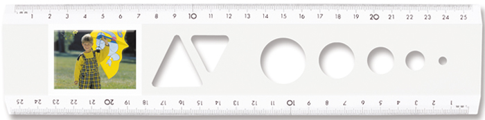 The passport photo ruler White