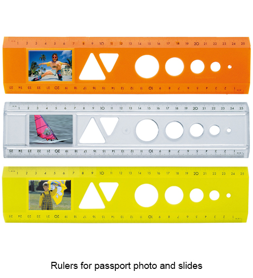 Rulers for passport photo and slides